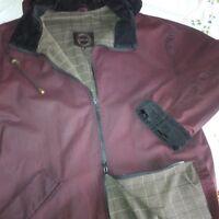 Burgundy Oil Skin Rigor Coat from Newfoundland Weavery