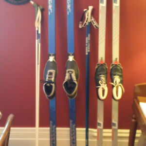 2 Pairs of Lightly used xcountry skis.