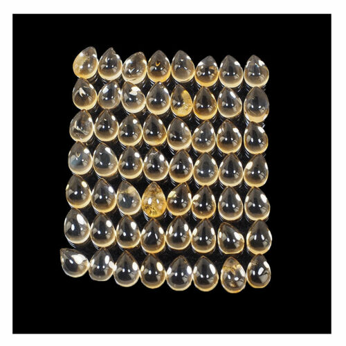 VVS 56 Pcs Natural Citrine 7mm/5mm Finest Quality Untreated Dazzling Gemstones