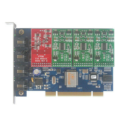 TDM400P 1 FXO +3 FXS Asterisk card PCI card for freepbx elastix trixbox voip pbx