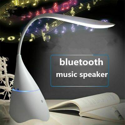 Usb Rechargeable Desk Lamp Led Bulb Wireless Table Light Speaker Bluetooth Lamp