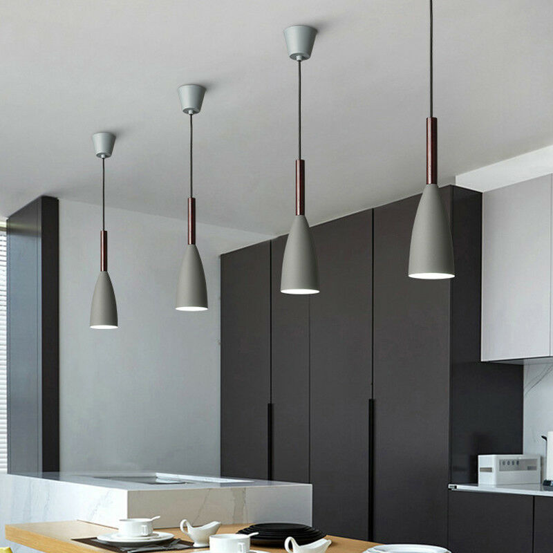 Details about Kitchen Island Pendant Light Bar Chandelier Lighting Wood  Modern Ceiling Light