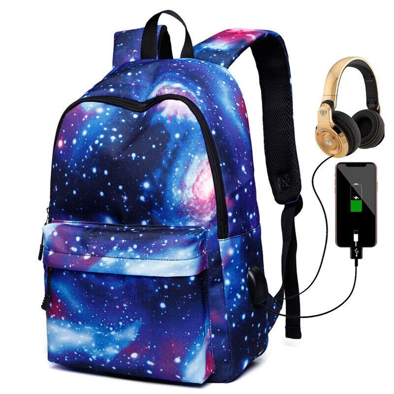 Waterproof Backpack Women School Bags for Girl USB Charge Tr