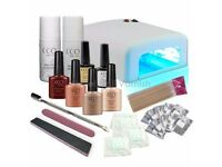BRAND NEW CCO DELUXE AUTUMN GEL NAIL KIT POLISH VARNISH STARTER SET WITH 36W LAMP LIGHT