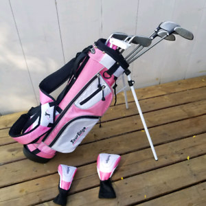 Pink Tour Edge Kid's Junior Golf Club Set