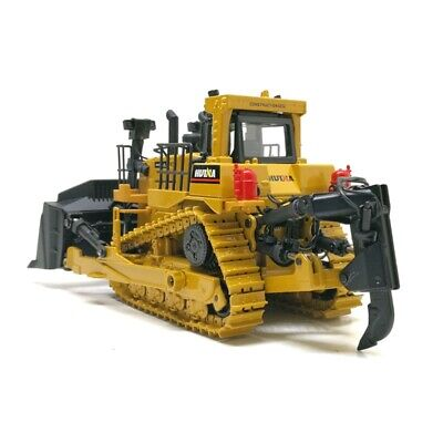 Crawler Bulldozer Model Alloy Diecast 1:50 Metal Hook Car Engineering Toys -