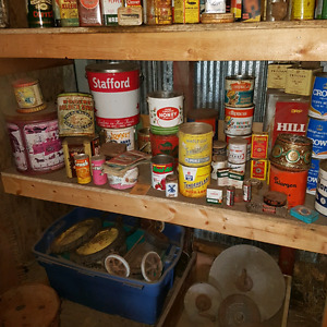 Large amount of antique cans Strathcona County Edmonton Area image 6