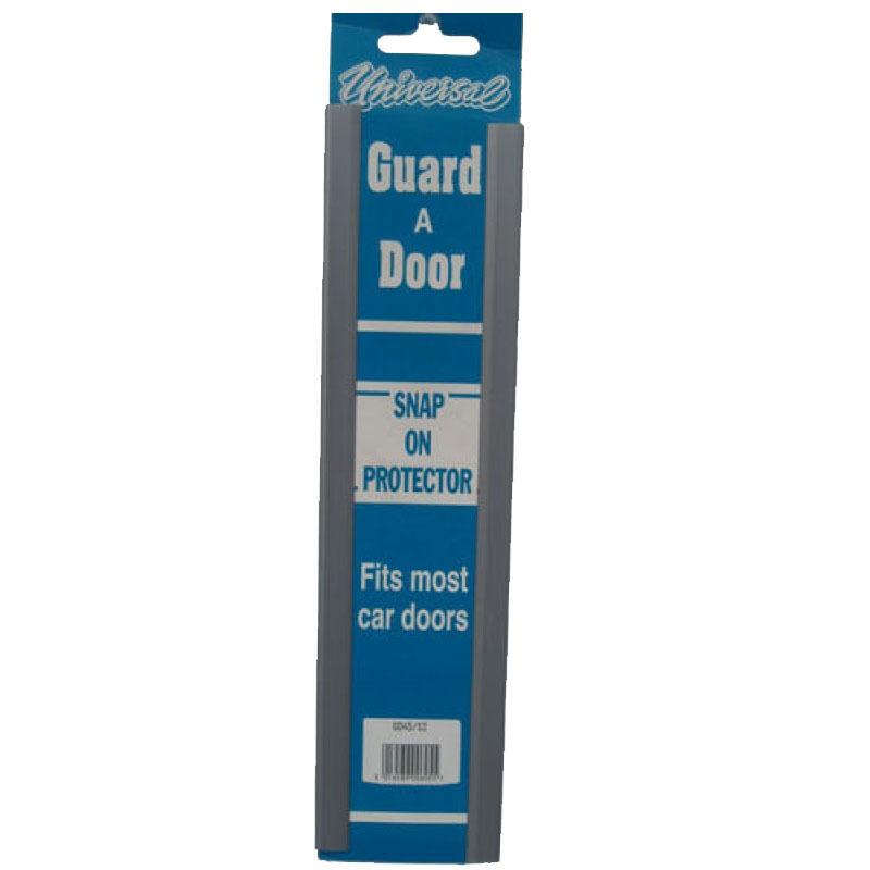 PAIR OF UNIVERSAL DOOR GUARD PROTECTORS FITS MOST CAR DOORS SILVER PROTECTIVE