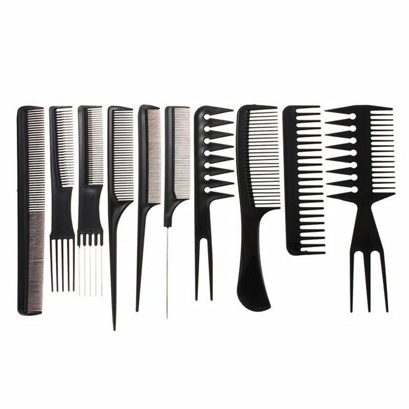 10pcs set professional hair brush comb salon
