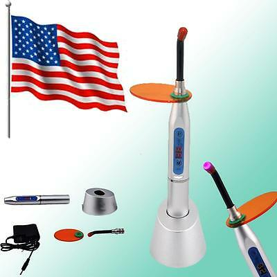 Usa- Dental 5w Wireless Cordless Led Curing Light Lamp 1500mw Silver Denshine