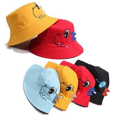 Spring Summer Double-sided Wear Baby Boy Girl Dinosaur Bucket Sun Hat Beach Cap - Dinosaur Hat