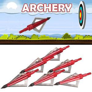6x 3 Blade 100 Grain Broadheads Crossbow Bolt Arrow Heads Tip Point Archery Hot