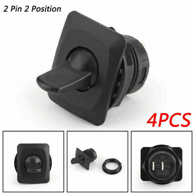 4pcs R13-402a Spst Toggle Switch 2 Pin 2 Position On-off 6a125vac 3a250 Us