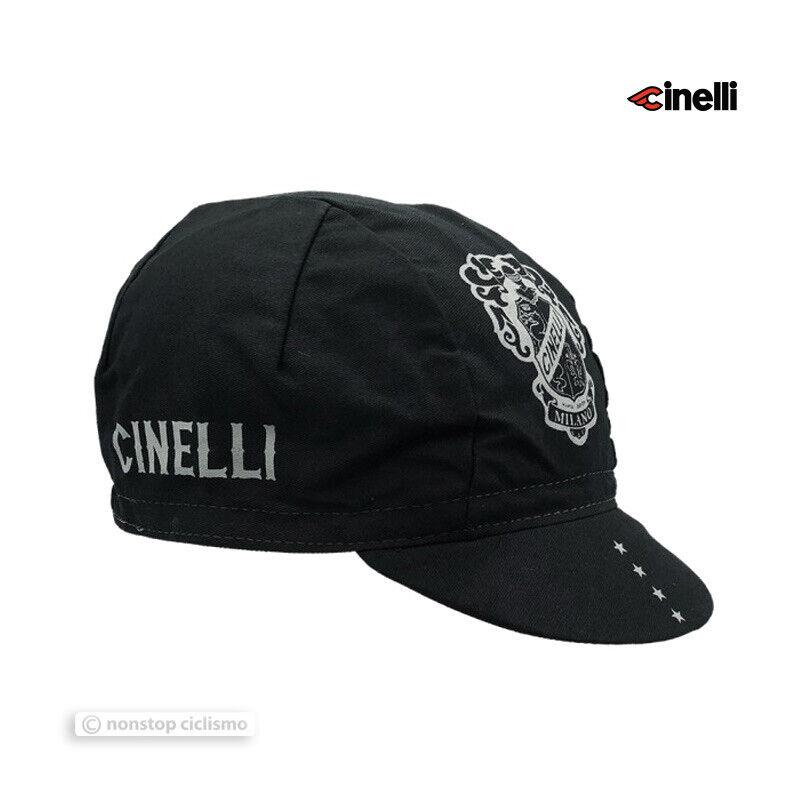 Cinelli Cycling Cap : BLACK CREST