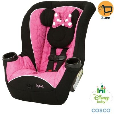 Disney Minnie Mouse Safety Baby Car Seat Convertible Booster Chair For Girl New