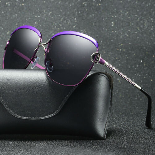Women's Sunglasses Metal Design Frame Polarized Sports Eyewear UV400 Sun Glasses