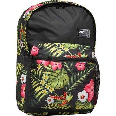 Puma Backpack Bag Floral Rucksack Laptop Sleeve Retro City Travel 26Litre Unisex
