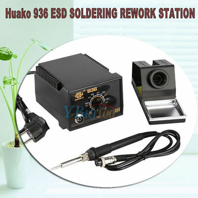 936 Adjustable Temperature Electric Soldering Station Kit w/ Iron Stand 110V 75W