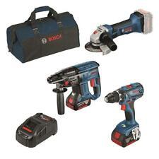 Bosch 18 Volt Akku-Profi-Set GSR 18 V-28, GWS 18-125 V-LI, GBH 18 V-20 , 2 Akkus