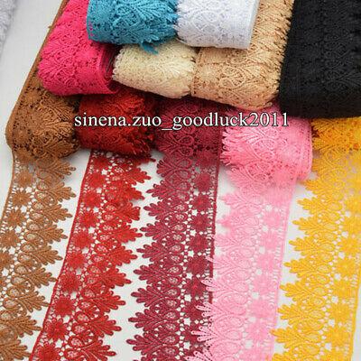 1 Yard, Crochet Lace Trim Ribbon Wedding Applique Dress Sewing Decor Craft FL57](Ribbon Decorations)