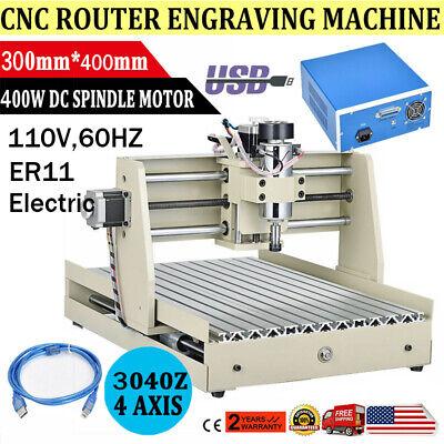 Usb 400w Cnc Router 3040 3axis Engraver Engraving Milling Machine Desktop Diy X1