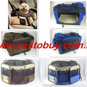 Pet Soft Crate Dog Cat Carrier Travel Cage Playpen Enclosure run Mordialloc Kingston Area Preview