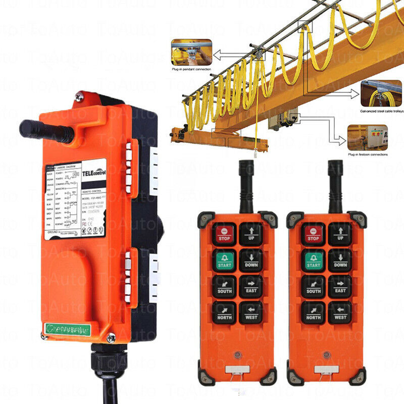 Universal Industrial Crane Remote Control Wireless Radio Controller for Crane,US