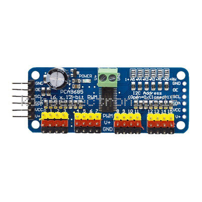 16 Ch 12-bit Pca9685 Pwm Servo Shield Motor Driver I2c Module For Arduino Robot