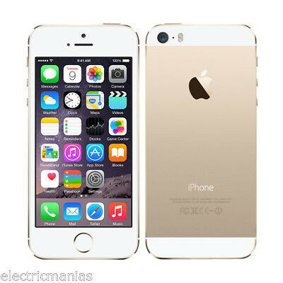 Apple iphone 5s -32GB GOLD-GSM Factory Unlocked- 4G SIMFREE Smartphone +WARRANTY