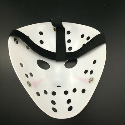 Jason Voorhees Scary Mask prop hockey Halloween Creepy MASK Hot EA7X (Scary Hockey Mask)