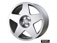 "18"" Bola B10 Silver Polished for VW Audi Seat Etc"