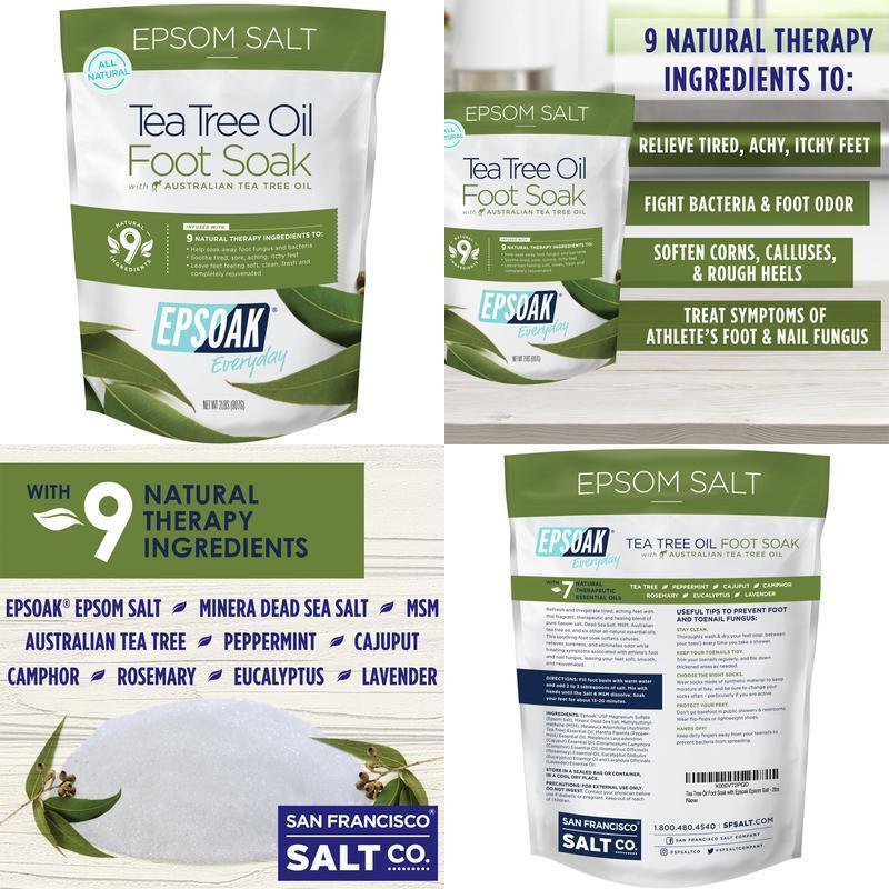 Tea Tree Oil Foot Soak with Epsoak Epsom Salt - 2 POUND  Val