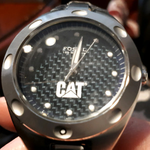 Brand new FOSSIL brand men's watch STAINLESS STEEL with CAT-$75