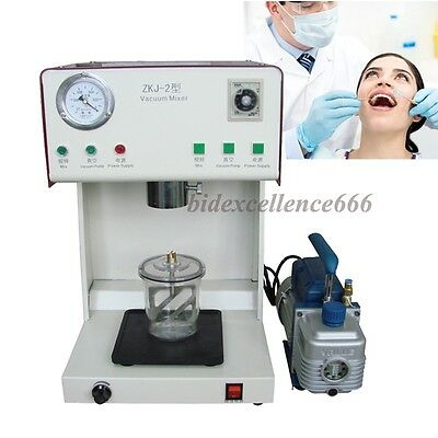 Dental Lab Vacuum Mixer Mixing Machine With Outer Pump Mixing Beaker Dentist