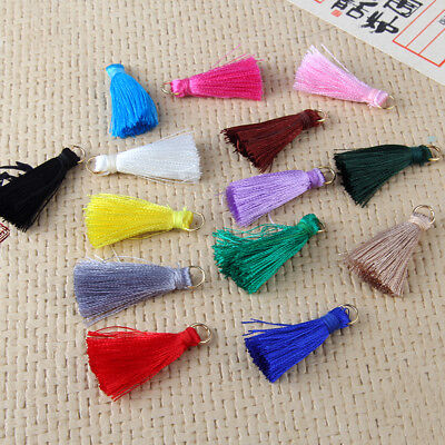 10x 20x Artificial Silk Rayon Fringe Tassel Pendant DIY Earrings Necklace Craft