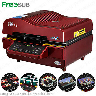 110v 3d Sublimation Heat Press Machine Transfer For Phone Cases Mugs Cups