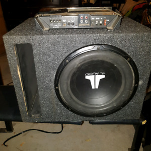 10 in jl audio and Rockford fossgste amp 200