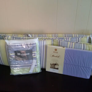 Crib bedding set - Custom made