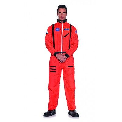 Underwraps Astronaut Orange Nasa Erwachsene Plus Teen Herren Halloween - Herren Orange Astronaut Kostüm