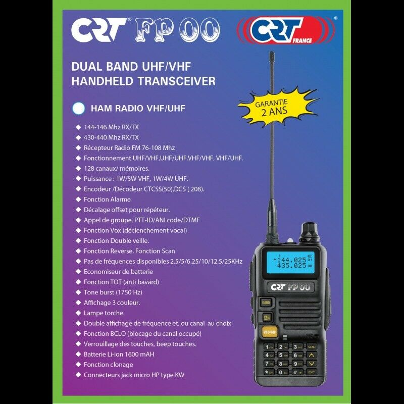 CRT FP 00 Dual Band VHF/UHF Handset | in Wingate, County Durham | Gumtree