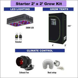 2' X 2' STARTER Grow Kit for Cannabis & Vegetables GrOh Canada