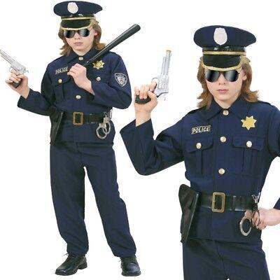 Polizist Polizei Kinder Kostüm Gr. 128 Police Officer NEU Jungen Karneval #7316