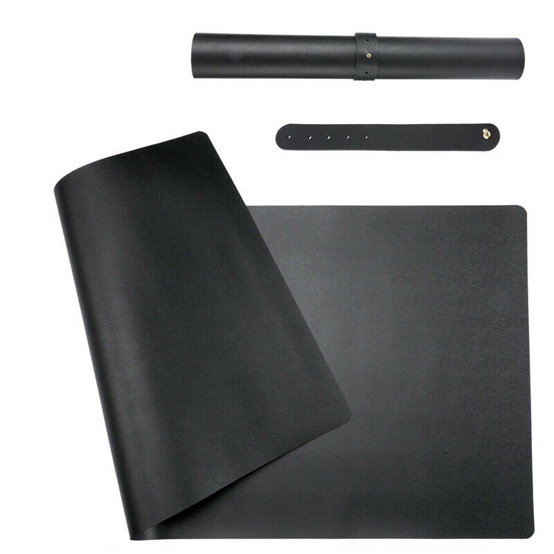 Waterproof Desk Pad 31.5 x 15.7 Large Rectangular Leather Laptop Desk Mat Black
