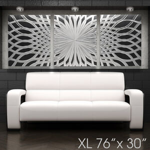 Xl Modern Abstract Metal Wall Art Contemporary Sculpture Design Piece Home Decor Ebay
