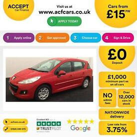 Peugeot 207 SW 1.6HDi 92 2012MY Access FROM £15 PER WEEK