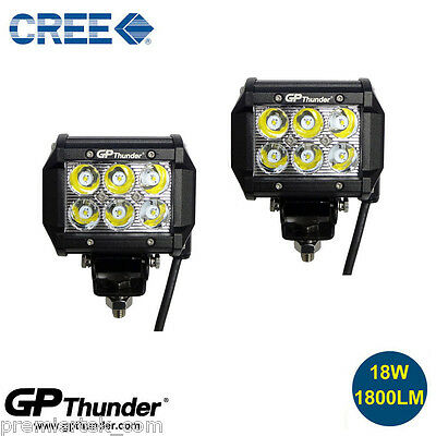 "2pcs 4"" 18W CREE LED Work Light Bar SPOT Beam Offroad Driving Fog Lamp ATV SUV"