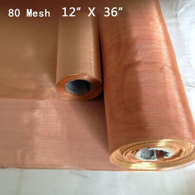 1236 Roll 80 Mesh Copper Insect Screen Vent Filter Woven Wire Sheet Screen