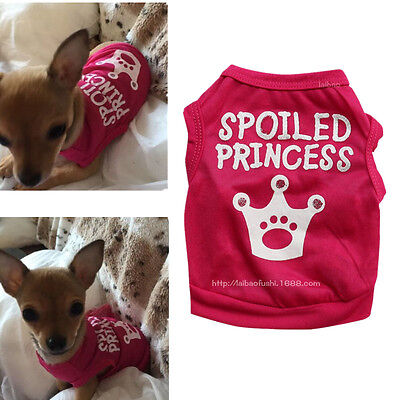 Toy Poodle Small Chihuahua Teacup Dog Clothes Shirt Summer Vest for Girl Pet Cat