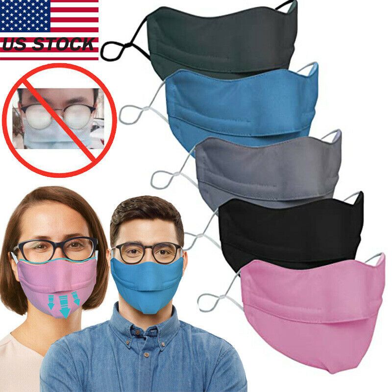 New Breathable Sports Mask prevent fogging face shields for glasses Wearers US