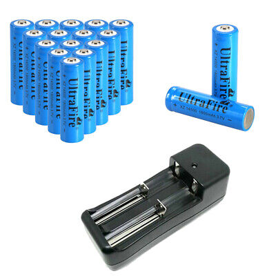 1800mAh 3.7V Li-ion Rechargeable Battery 14500 Batteries With Smart Charger 1800mah Li Ion Battery